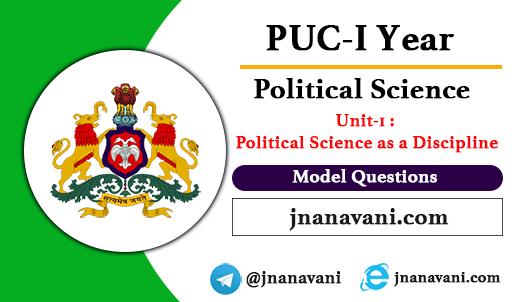 Political Science as a Discipline Model Questions